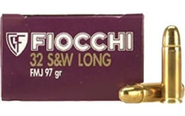 Fiocchi 32SWLA Shooting Dynamics 32 S&W Long 97 GR FMJ - 50rd Box