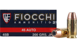 Fiocchi 45B500 Shooting Dynamics 45 ACP 200 GR Jacketed Hollow Point - 50rd Box