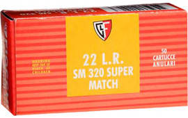 Fiocchi 22SM320 Super Match 22 Long Rifle (LR) 40 GR Round Nose - 50rd Box