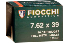 Fiocchi 762SOVA Shooting Dynamics 7.62x39mm 124 GR Full Metal Jacket - 20rd Box
