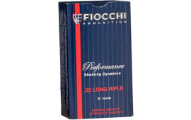Fiocchi 22FHPSUB Shooting Dynamics 22 LR 38 GR SubSonic Hollow Point - 50rd Box
