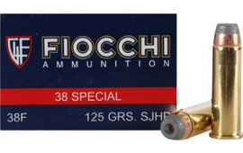 Fiocchi 38ACMJ Shooting Dynamics 38 Special 125  GR Copper Metal Jacket Flat Point - 50rd Box