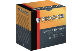 """Fiocchi 28HV75 High Velocity Shotshell 28 GA 2.75"""" 3/4oz #7.5 Shot - 250sh Case"""