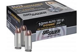 Sig Sauer E10MM1-20 V-Crown 10mm 180  GR HAP - 20rd Box
