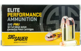 Sig Sauer E38SB150 Elite Ball 38 Special 125  GR Full Metal Jacket - 50rd Box