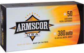 Armscor FAC3802N 380 ACP 95 GR Full Metal Jacket - 50rd Box