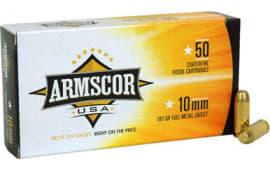 Armscor FAC102N 10mm Automatic 180  GR Full Metal Jacket - 50rd Box