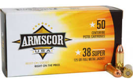 Armscor FAC38SUPER1N 38 Super 125  GR Full Metal Jacket - 50rd Box