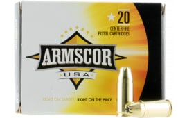 Armscor AC97N 9mm Luger 124  GR Jacketed Hollow Point - 20rd Box