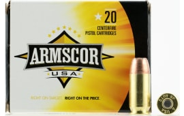 Armscor AC45A10N 45 ACP 230  GR Jacketed Hollow Point - 20rd Box