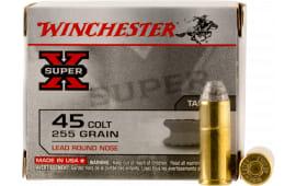 Winchester Ammo X45CP2 Super-X 45 Colt (LC) 255 GR Lead Round Nose - 20rd Box