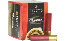 "Federal PD412JGE000 Premium Personal Defense 410GA 2.5"" Buckshot 4 Pellets 000 Buck - 20sh Box"