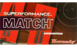 Hornady 80963 Superformance Match 308 Win/7.62 NATO 168 GR ELD-Match - 20rd Box