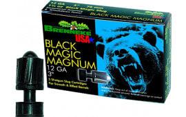 "Brenneke SL123BMM Black Magic Magazine 12 GA 3"" 1-3/8oz Slug - 5sh Box"