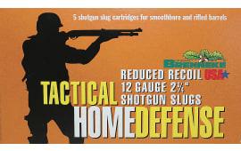 "Brenneke 4205126 Tactical Home Defense 12 GA Rifled Lead 2.75"" 1oz Slug - 5sh Box"