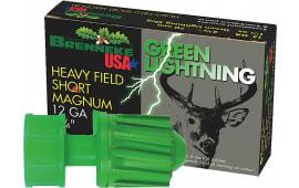 "Brenneke SL122HFSGL Green Lightning 12 GA 2.75"" 1-1/4oz Slug - 5sh Box"