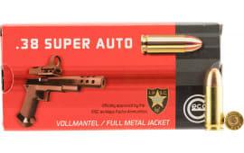 Geco 271140050 38 Super Full Metal Jacket RN 124 GR - 50rd Box