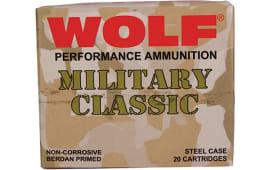 Wolf MC3006FMJ168 Military Classic 30-06 FMJ 168 GR - 500rd Case