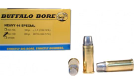 Buffalo Bore Ammunition 14B20 Outdoorsman 44 Special 255 GR Hard Cast Keith Semi-Wadcutter - 20rd Box