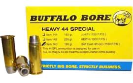 Buffalo Bore 14C/20 Handgun 44 Special Soft Cast Hollow Point 190 GR/12Cas - 20rd Box
