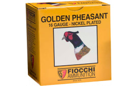 "Fiocchi 16GP6 Golden Pheasant Nickel-Plated 16GA 2.75"" 1-1/8oz #6 Shot - 250sh Case"
