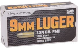 Century Arms AM1905 Hotshot 9mm Luger 124 GR Full Metal Jacket - 50rd Box