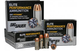 Sig Sauer E9MMA1-20  - Case - V-Crown 9mm Luger 115 GR Jacketed Hollow Point - 200 Round Case