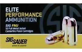 Sig Sauer E45BA3-50 Full Metal Jacket 45 ACP 230 GR FMJ - 50rd Box