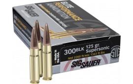 Sig E300A1-20 300 Blackout Match Grade Supersonic 125 GR Sierra MatchKing - 20rd Box