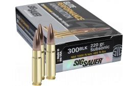 Sig E300A2-20 300 Blackout Match Grade Subsonic 220 GR Sierra MatchKing - 20rd Box
