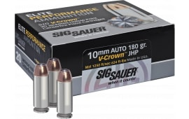 Sig Sauer E10MM1-20 V-Crown 10mm 180 GR HAP - 20rd Box