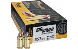 Sig Sauer E357B1-50 Full Metal Jacket 357 Sig Sauer 125 GR FMJ - 50rd Box