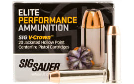 Sig Sauer E357M1-20 V-Crown Jacketed Hollow Point 357 Magnum 125 GR Jacketed Hollow Point - 20rd Box