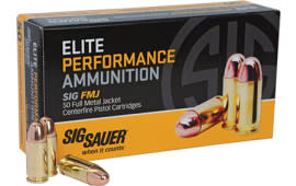 Sig Sauer E38SUB-50 Full Metal Jacket 38 Super +P 125 GR FMJ - 50rd Box
