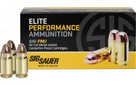 Sig Sauer E357MB-50 Full Metal Jacket 357 Magnum 125 GR FMJ - 50rd Box