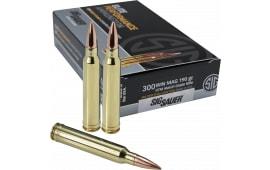Sig Sauer E3WMM120 Match Grade 300 Winchester Magnum 190 GR Open Tip Match - 20rd Box
