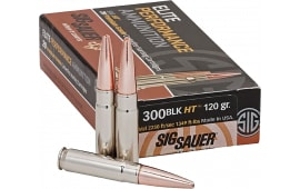 Sig Sauer E300H120 300 Blackout Elite Hunting 300 AAC Blackout/Whisper (7.62X35mm) 120 GR Open Tip Match - 20rd Box