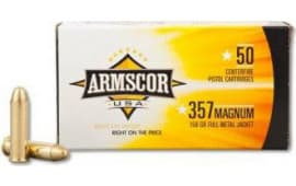 Armscor FAC3572N 357 Magnum 125 GR Full Metal Jacket - 50rd Box
