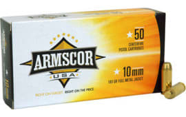Armscor FAC102N 10mm Automatic 180 GR Full Metal Jacket - 50rd Box