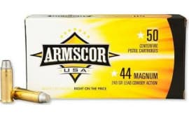 Armscor FAC44M1N 44 Remington Magnum 240 GR Semi-Wadcutter - 50rd Box