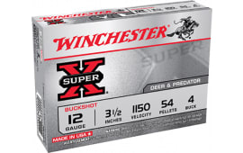 "Winchester Ammo XB12L4 Super-X 12GA 3.5"" Copper-Plated Lead 54 Pellets 4 Buck - 5sh Box"