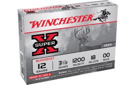 "Winchester Ammo XB12300VP Super-X 12GA 3"" Buckshot 15 Pellets 00 Buck - 15sh Box"