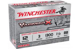"""Winchester Ammo X123VBB Varmint X 12GA 3"""" Buckshot 1-1/2oz BB - 10sh Box"""