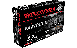 Winchester Ammo S308M Supreme 308 Winchester/7.62 NATO 168 GR Sierra MatchKing Boat Tail Hollow Point - 20rd Box