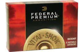 "Federal P15600 Vital-Shok 12GA 2.75"" Buckshot 12 Pellets 00 Buck - 5sh Box"