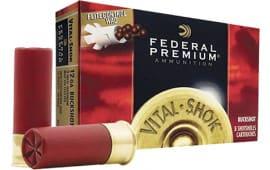 "Federal PFC15700 Vital-Shok 12GA 3"" Buckshot 12 Pellets 00 Buck - 5sh Box"