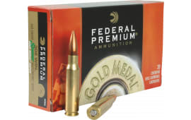 Federal GM308M Gold Medal 308 Winchester/7.62 NATO 168 GR Sierra MatchKing Boat Tail Hollow Point - 20 Round Box - 200 Round Case