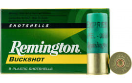 "Remington Ammunition 12B00 Express 12GA 2.75"" Buckshot 9 Pellets 00 Buck - 5sh Box"