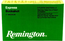 "Remington Ammunition 12HB00 Express Magnum 12GA 3"" Buckshot 15 Pellets 00 Buck - 5sh Box"