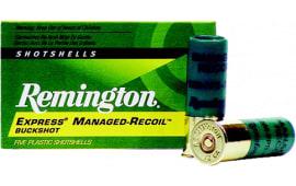 "Remington Ammunition RL12BK00 Managed Recoil 12GA 2.75"" Buckshot 8 Pellets 00 Buck - 5sh Box"
